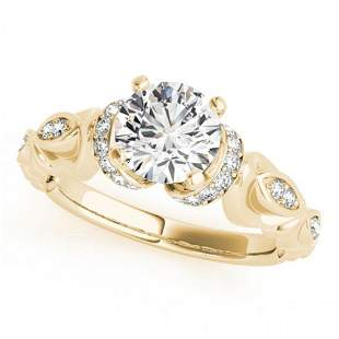 1.2 ctw Certified VS/SI Diamond Antique Ring 14k Yellow