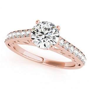 1.4 ctw Certified VS/SI Diamond Ring 14k Rose Gold -