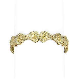 5 ctw Diamond Bracelet 18K Yellow Gold - REF-702W8H