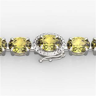 29 ctw Citrine & VS/SI Diamond Micro Pave Bracelet 14k