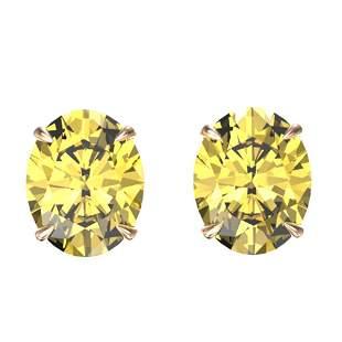 5 ctw Citrine Designer Stud Earrings 14k Rose Gold -