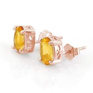 1.50 ctw Citrine Earrings 14k Rose Gold - REF-8W3H