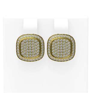1.09 ctw Diamond Earrings 18K Yellow Gold - REF-153Y3X