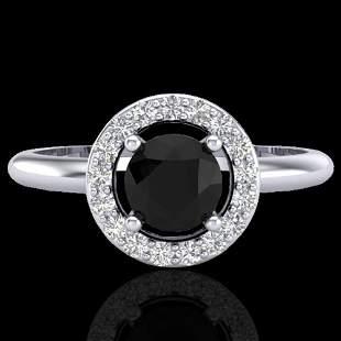 0.75 ctw Micro Pave Halo VS/SI Diamond Certified Ring