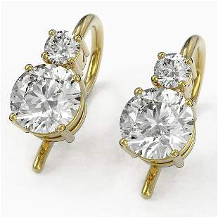 1.25 ctw Diamond Designer Earrings 18K Yellow Gold -