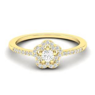 0.35 ctw Micro PaveVS/SI Diamond Certified Ring MOON