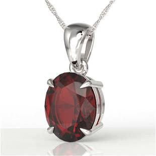 3.50 ctw Garnet Designer Necklace 18k White Gold -