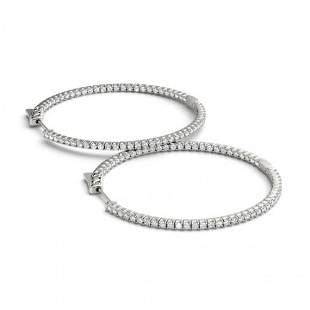 0.5 ctw Diamond VS/SI 20 MM Hoop Earrings 14k White