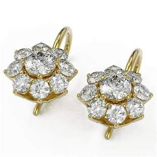 1.82 ctw Diamond Designer Earrings 18K Yellow Gold -