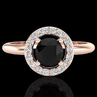 0.70 ctw Micro Pave Halo VS/SI Diamond Certified Ring