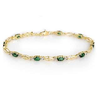 2.80 ctw Emerald Bracelet 10k Yellow Gold - REF-20H2R