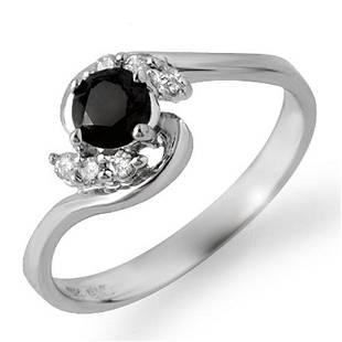 0.50 ctw VS Certified Black & White Diamond Ring 10k