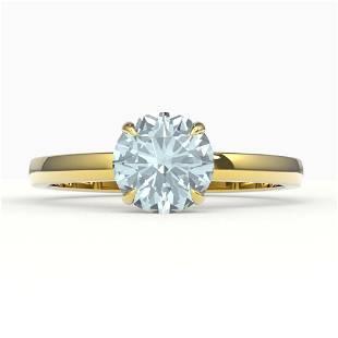 2 ctw Sky Blue Topaz Designer Solitaire Engagment Ring