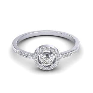 0.40 ctw Micro Pave VS/SI Diamond Certified Ring Halo
