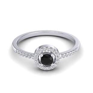 0.50 ctw Micro Pave VS/SI Diamond Certified Ring Halo