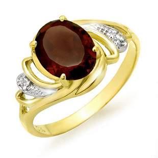 2.03 ctw Garnet & Diamond Ring 10k Yellow Gold -
