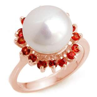 0.75 ctw Red Sapphire Ring 14k Rose Gold - REF-29W9H