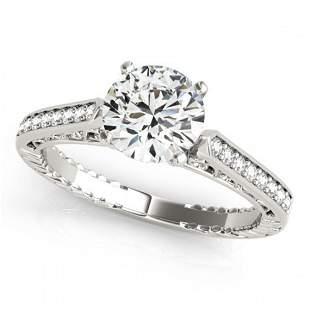 0.4 ctw Certified VS/SI Diamond Antique Ring 18k White