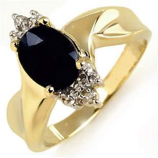 1.79 ctw Blue Sapphire & Diamond Ring 10k Yellow Gold -