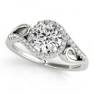 ctw Certified VS/SI Diamond Solitaire Halo Ring 14k