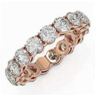 4.42 ctw Diamond Designer Eternity Ring 18K Rose Gold -