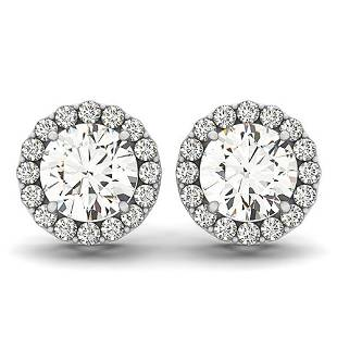1.3 ctw Diamond VS/SI Certified Halo 14k White Gold -