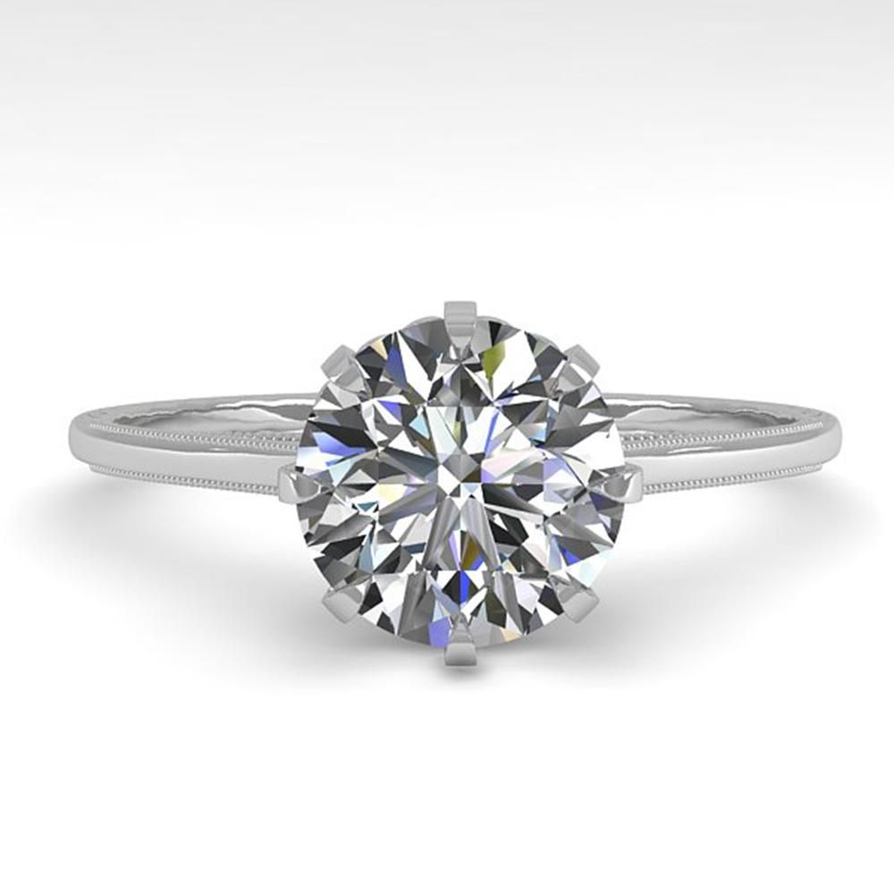 1.50 ctw Certified VS/SI Diamond Ring Vintage 14k White