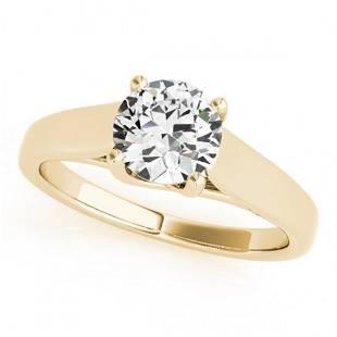 1 ctw Certified VS/SI Diamond Ring 14k Yellow Gold -