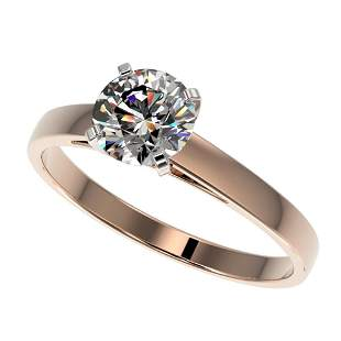 1 ctw Certified Quality Diamond Engagment Ring 10k Rose