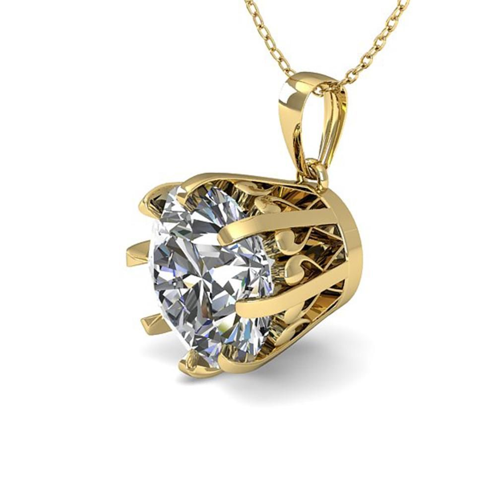 1.50 ctw VS/SI Diamond Necklace Vintage 14k Yellow Gold