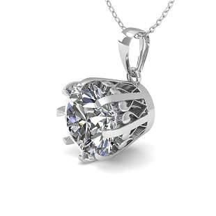 1 ctw VS/SI Diamond Solitaire Necklace Vintage 14k