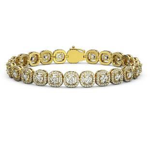 8.83 ctw Cushion Cut Diamond Micro Pave Bracelet 18K