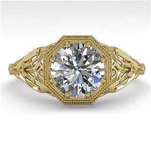 1.53 ctw VS/SI Diamond Solitaire Ring Art Deco 14k