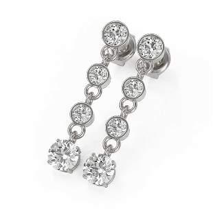 2 ctw Diamond Designer Earrings 18K White Gold -