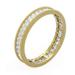 2.87 ctw Baguette Diamond Men's Ring 18K Yellow Gold -