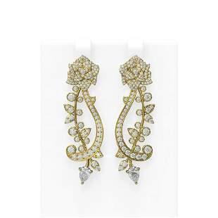 4.62 ctw Diamond Earrings 18K Yellow Gold - REF-554A4N