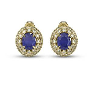 8.84 ctw Certified Sapphire & Diamond Victorian