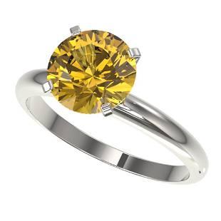 2.50 ctw Certified Intense Yellow Diamond Solitaire