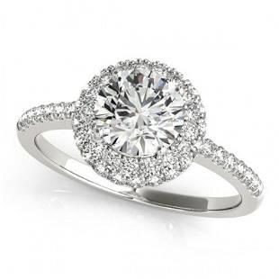 2.15 ctw Certified VS/SI Diamond Halo Ring 14k White