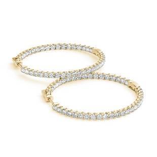 4.5 ctw Diamond VS/SI 40 MM Hoop Earrings 14k Yellow