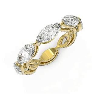 2.64 ctw Marquise Cut Diamond Designer Ring 18K Yellow