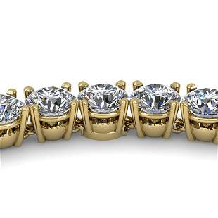 30 ctw Certified SI Diamond Necklace 14K Yellow Gold -