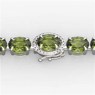 17.25 ctw Green Tourmaline & VS/SI Diamond Micro