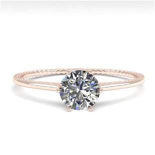 0.50 ctw VS/SI Diamond Art Deco Ring 14k Rose Gold -