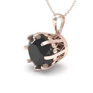 1.50 ctw Black Certified Diamond Necklace Vintage 14k