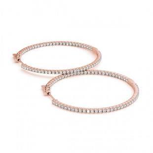 1 ctw Diamond VS/SI Hoop Earrings 14k Rose Gold -