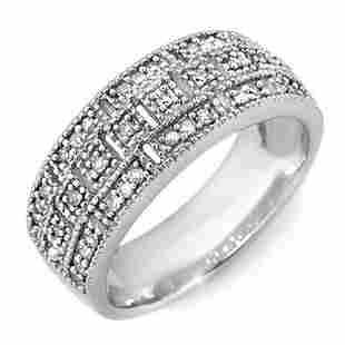 0.35 ctw Certified VS/SI Diamond Ring 10k White Gold -