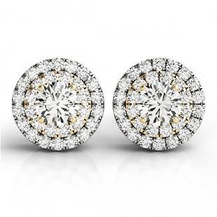 1 ctw Diamond Solitaire VS/SI Certified Halo 14k 2Tone