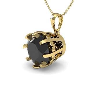 2.0 ctw Black Certified VS/SI Diamond Necklace Vintage
