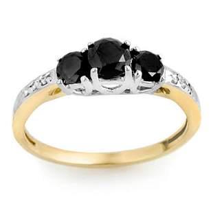 1.05 ctw VS Black & White Diamond Ring 2-Tone 14k